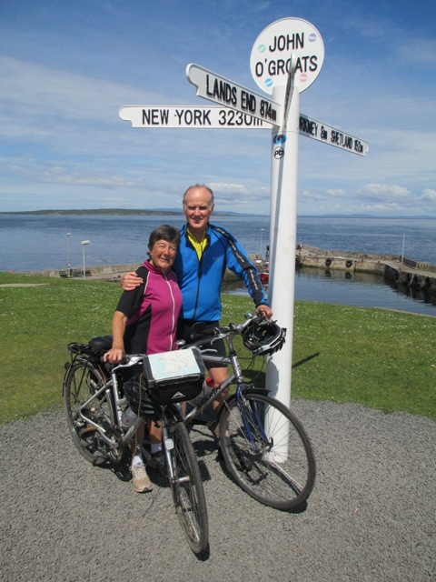 Photograph of Laura & Gerald at Lands End
