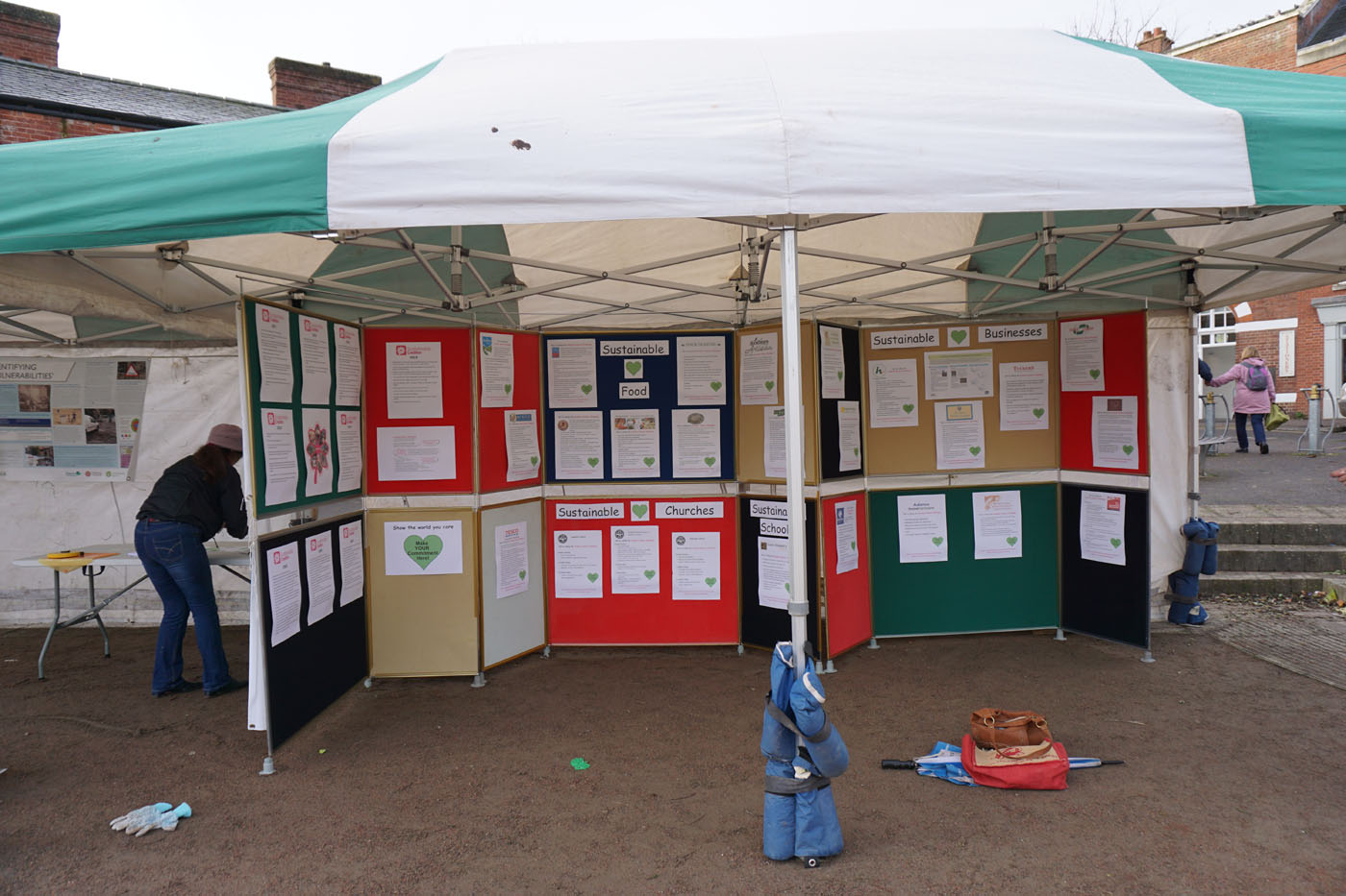 Photograph of display stands for local organisations