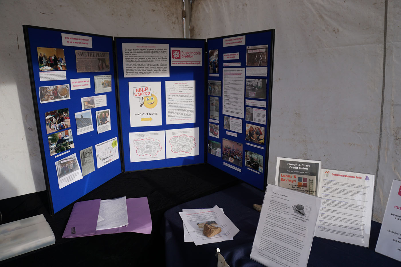 Photograph of the Sustainable Crediton stall