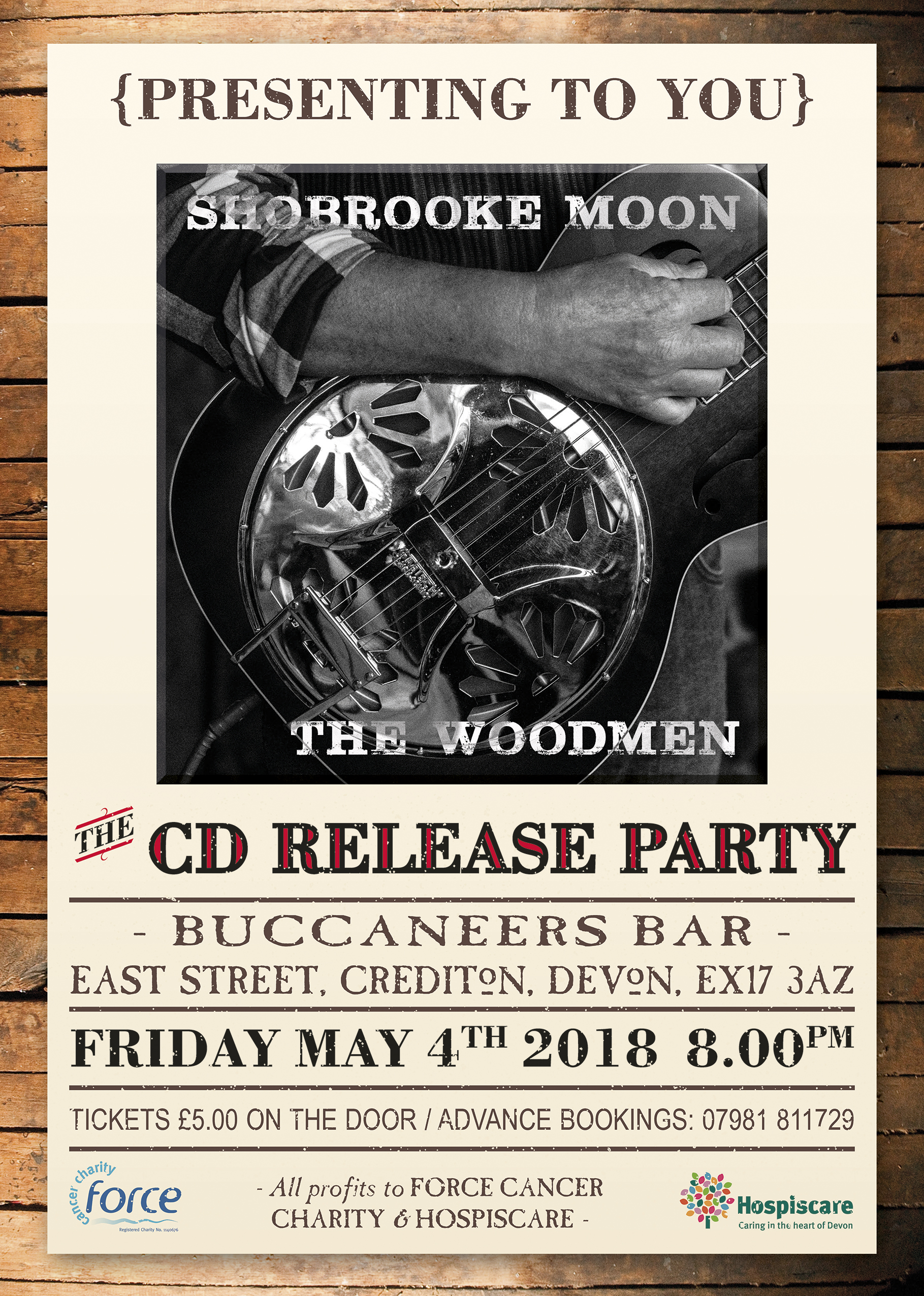 CD Release Party Bucanneers Bar East Street Crediton Friday 4th May 8pm