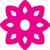 Graphic outline of the pink flower which is the logo for Sustainable Crediton